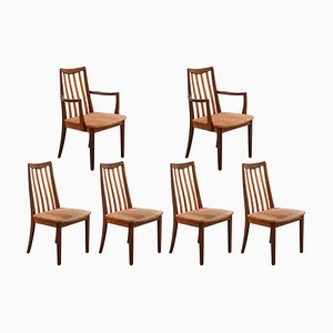 Danish Model Eva Side Chairs by Niels Koefoed for Hornslet Møbelfabrik, 1950s, Set of 6