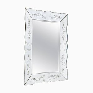 Vintage French Beveled Mirror, 1940s