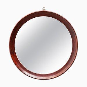 Danish Circular Teak Mirror, 1960s
