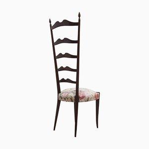Italian High Back Chiavari Chairs by Paolo Buffa, 1950s, Set of 2