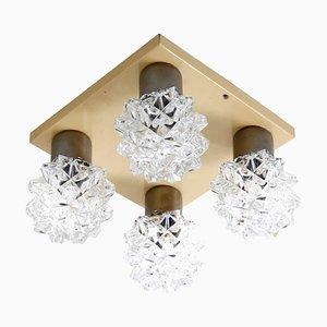 Deckenlampe aus Kristallglas, 1970er