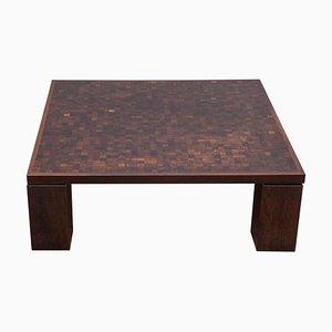 Table d'Appoint en Marqueterie par Rolf Middelboe & Gorm Lindum pour Tranekær Furniture, Danemark, 1970s