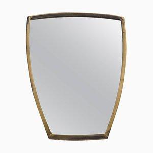 Scndinavian Brass Wall Mirror, 1950s