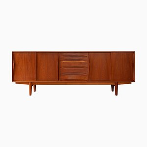 Vintage Danish Teak Sideboard by Henry Rosengren Hansen for Skovby, 1950s