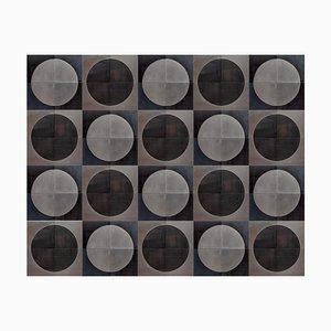 Belgische Brutalistische Moderne Kunst Wanddekoration aus Metall in Schwarz & Silber, 1960er, 80er Set