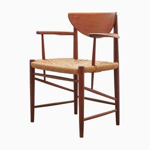 Teak Armchairs by Peter Hvidt & Orla Mølgaard-Nielsen for Soborg Mobler, 1956, Set of 4