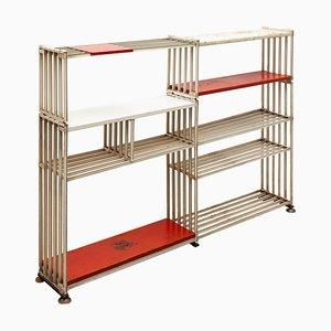 Minimalist Free-Standing Wire Bookshelf by Tjerk Reijenga for Pilastro, 1950s