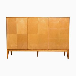 Belgian Satinwood High Sideboard, 1940s