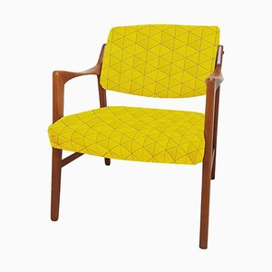 Swedish Solid Teak Chair by Inge Andersson for Bröderna, 1960s