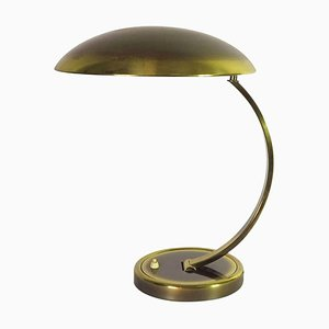 German Art Deco Style Brass Table Lamp by Christian Dell for Kaiser, 1950s