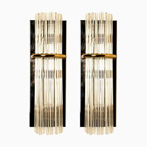 Modern Glass Rod Sconces by Gaetano Sciolari for Lightolier, 1960s, Set of 2