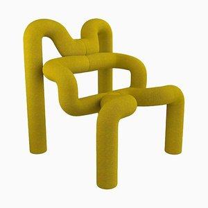 Norwegian Iconic Yellow Armchair by Terje Ekstrom, 1980s