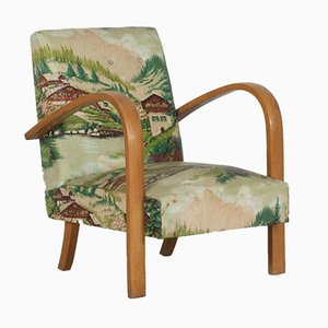Italian Armchairs with Alpine Scenery, 1940s, Set of 2