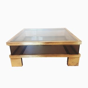 Brass Coffee Table by Alfredo Freda for Cittone Oggi, 1970s