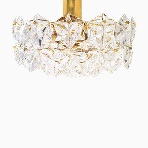 Hollywood Regency Deckenlampe aus Kristallglas von Kinkeldey, 1960er