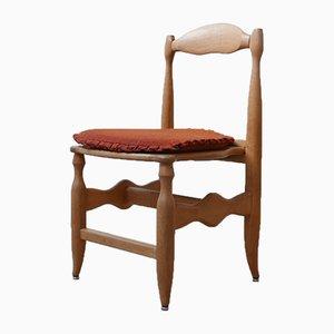 Eichenholz Esszimmerstühle von Guillerme et Chambron, 1960er, 6er Set