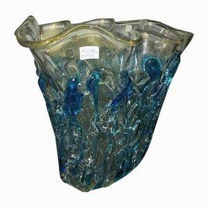 Vaso in cristallo turchese di Sergio Costantini
