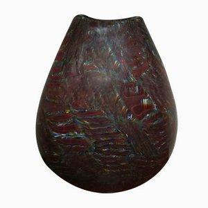 Multi Colored Fondo Burgundy Vase by Paul Crepax