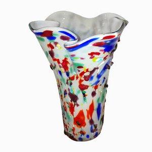 Vase Blanc et Coloré par Sergio Constantini