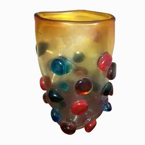 Colored Ball Vase by Sergio Constantini