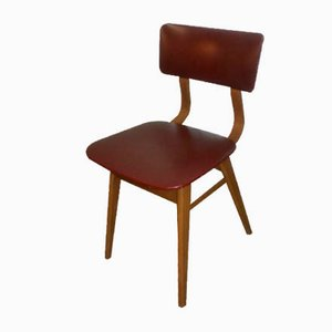 Mid-Century Bordeaux Skai Dining Chairs, Set of 2