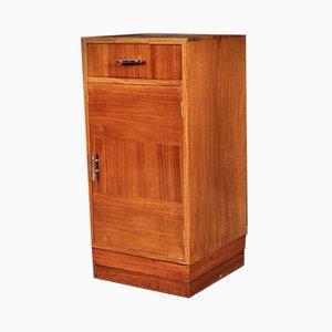 Art Deco Walnut Bedside Cabinet, 1930s