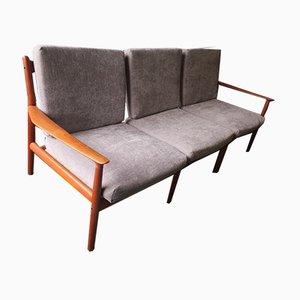 Dänisches Mid-Century 3-Sitzer Sofa aus Teak von Grete Jalk
