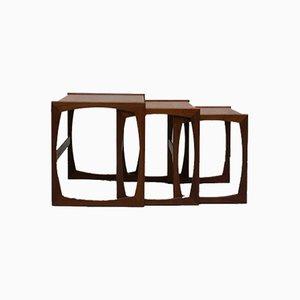 Teak Quadrille Nesting Tables from G-Plan, 1960s