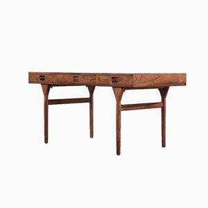 Freistehender dänischer Schreibtisch aus Nussholz von Nanna Ditzel für Søren Willadsen Møbelfabrik, 1958