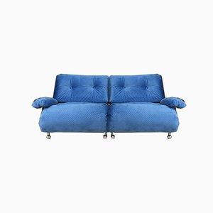 Vintage Blue Modular 2-Seat Sofa from G-Plan, Set of 2