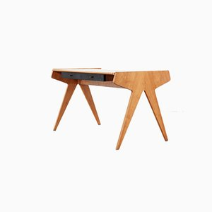 German Cherry 2 Sided Desk by Helmut Magg for WK Möbel, 1952