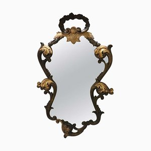 Vintage Carved and Gilded Wood Wall Mirror, 1920s