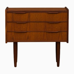 Small Danish Teak Dresser with 3 Drawers, 1960s