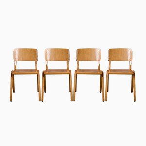 Scandinavian Dining Chairs, 1960s, Set of 4