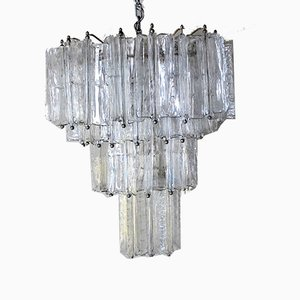 Murano Glass Ceiling Lamp by Toni Zuccheri for Venini, 1950s