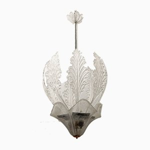 Mid-Century Modern Murano Glass Chandelier by Ercole Barovier for Barovier & Toso, 1940s