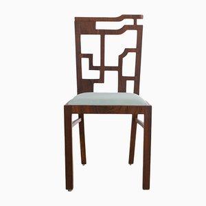 Geometrische Vintage Art Deco Esszimmerstühle, 2er Set