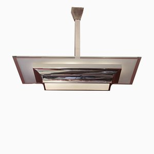 Lampada da soffitto Art Déco di Henri Petitot per Atelier Petitot, anni '30