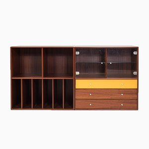 Cherrywood Veneer Cabinets by Peter J. Lassen for Montana, 2000s, Set of 2