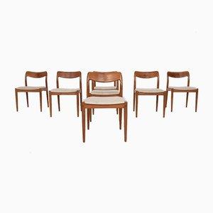 Dänische Palisander Esszimmerstühle von Johannes Andersen für Uldum Møbelfabrik, 1950er, 7er Set