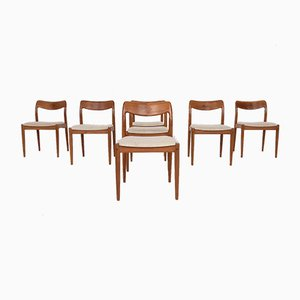 Danish Rosewood Dining Chairs by Johannes Andersen for Uldum Møbelfabrik, 1950s, Set of 7