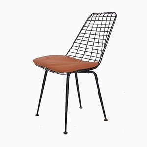 Black Metal Wire Stool attributed to Cees Braakman for Pastoe, 1950s