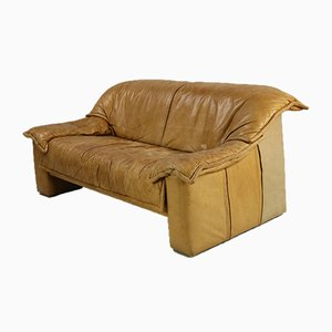 Vintage Cognac Leather Sofa, 1970s