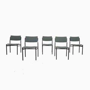Stapelbare Vintage Metall Stühle von Gijs Van Der Sluis für Van Der Sluis Stalen, 1960er, 5er Set