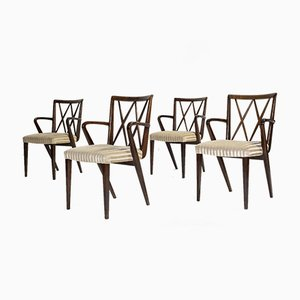 Mid-Century Walnut Dining Chairs by A. A. Patijn for Zijlstra Joure, Set of 4