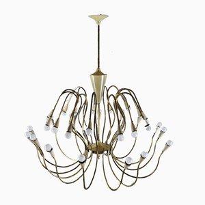 Grand Plafonnier à 30 Lampes par Oscar Torlasco, 1950s