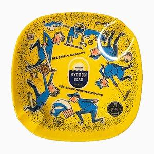 """Werbe-Aschenbecher """"Hadron Blau"""" von Cassella, 1960er"""