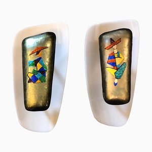 Mid-century Enamel Copper Sconces by Paolo de Poli, 1960s, Set of 2
