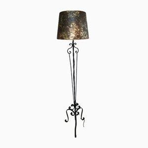 Wrought Iron Floor Lamp, 1940s