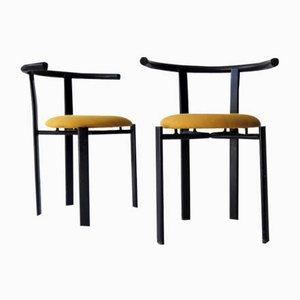 Schwarz Lackierter Sessel, 1980er